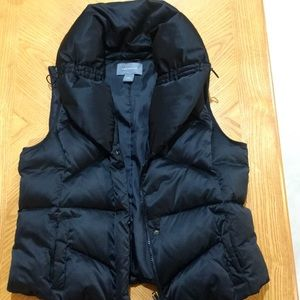 NWOT Ann Taylor Black Vest Size Large